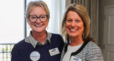 Incoming and Outgoing IAEM-USA Presidents at 2019 Annual Conference