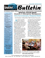 IAEM Bulletin monthly newsletter for members only